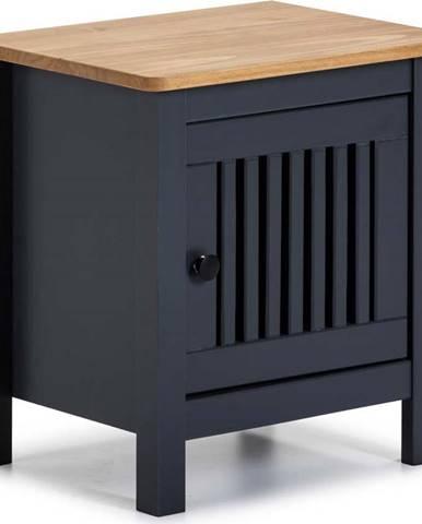 Šedý dřevěný noční stolek Marckeric Bruna