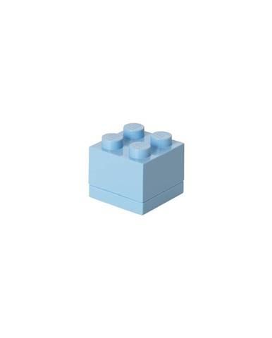 Světle modrý úložný box LEGO® Mini Box