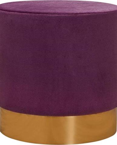 Tmavě fialová podnožka Balcab Home Olga