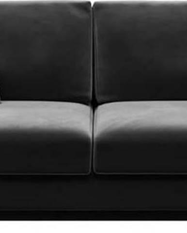 Tmavě šedá sametová rozkládací pohovka Devichy Rothe, 256 cm