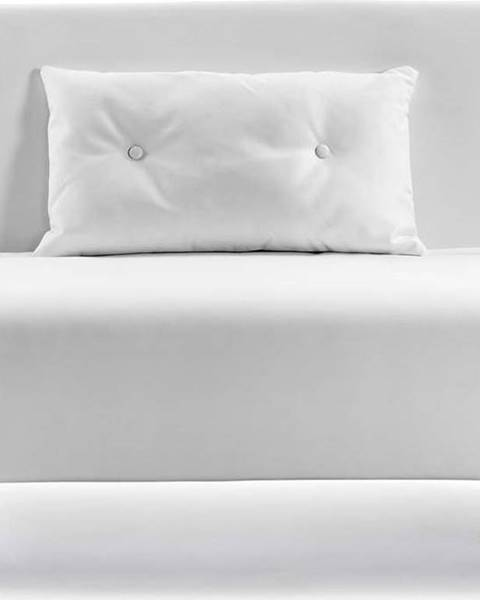 La Forma Bílá rozkládací pohovka z imitace kůže La Forma Tupana