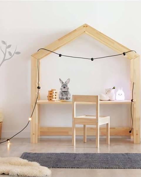 Adeko Domečkový dětský pracovní stůl z borovicového dřeva Adeko Bran,40x100cm
