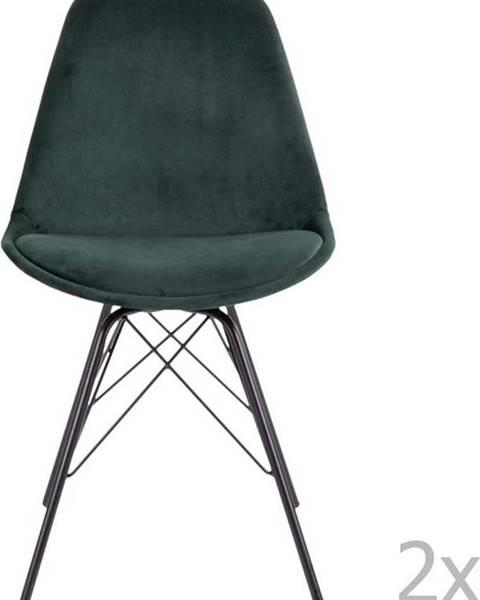House Nordic Sada 2 tmavě zelených jídelních židlí House Nordic Oslo