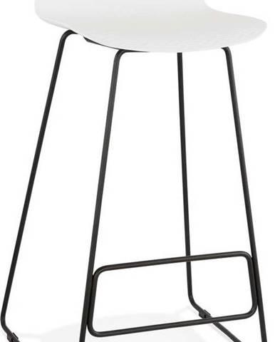 Bílá barová židle s černými nohami Kokoon Slade, výškasedu76cm