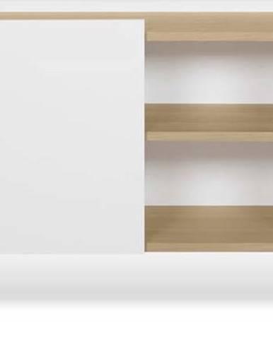 Bílá komoda s 3 policemi a 3 dvířky TemaHome Nina, 180 x 83 cm