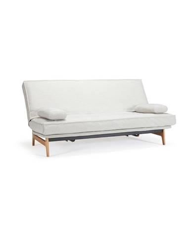 Bílá rozkládací pohovka se snímatelným potahem Innovation Aslak Elegant Mixed Dance Neutral, 92x200cm