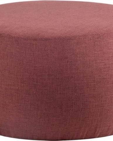 Bordově červený puf sømcasa Alan, ø 75 cm