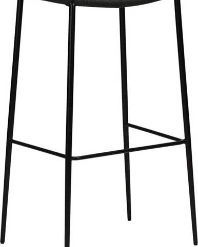 Černá barová židle DAN-FORM Denmark Stiletto, výška 78 cm