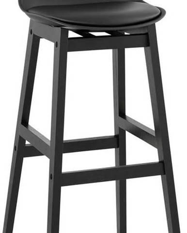 Černá barová židle Kokoon Turel, výškasedu79cm