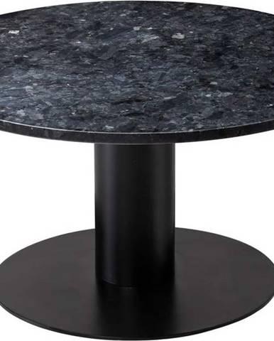 Černý žulový konferenční stolek s podnožím v černé barvě RGE Pepo, ⌀ 85 cm