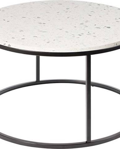 Konferenční stolek s kamennou deskou RGE Cosmos, ø 85 cm