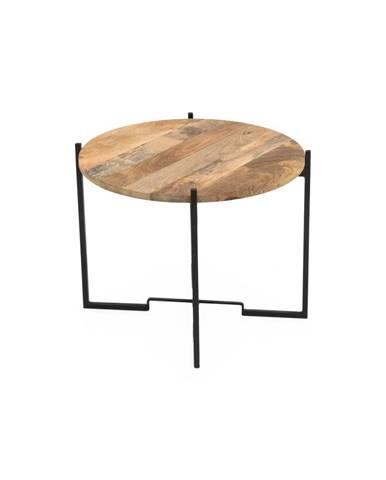 Konferenční stolek s železnou konstrukcí WOOX LIVING Fera, ⌀63cm