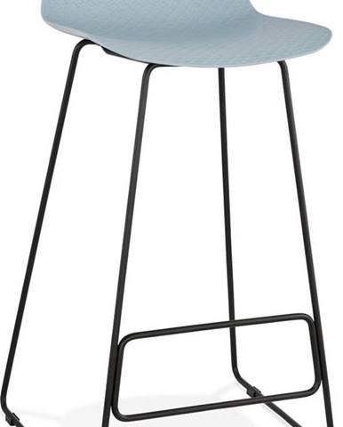 Modrá barová židle s černými nohami Kokoon Slade, výškasedu76cm
