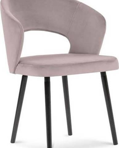 Půdrově růžová jídelní židle se sametovým potahem Windsor & Co Sofas Elpis