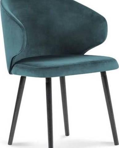 Petrolejově modrá jídelní židle se sametovým potahem Windsor & Co Sofas Nemesis