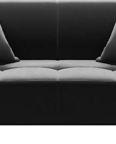 Tmavě šedá sametová pohovka MESONICA Toro, 187 cm