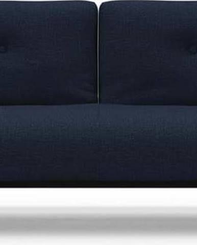 Tmavě modrá rozkládací pohovka Innovation Ample Mixed Dance Blue, 90x210cm