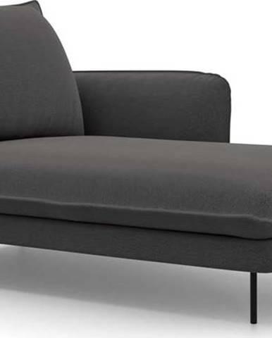 Tmavě šedá lenoška Cosmopolitan Design Vienna, pravý roh