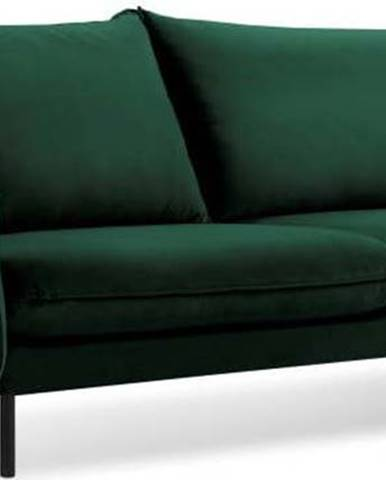 Zelená sametová pohovka Cosmopolitan Design Vienna, 230 cm