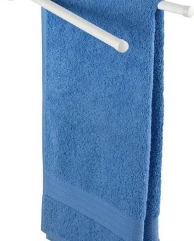 Bílý nástěnný držák na ručníky Wenko Basic 2 Arms Oval Base