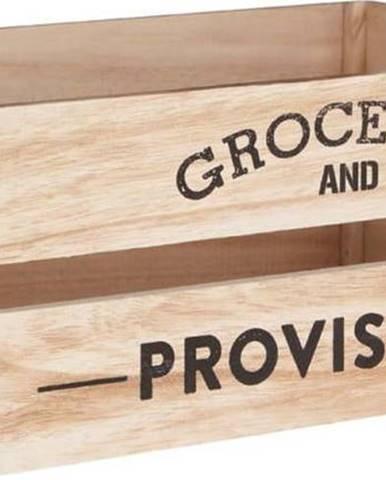 Dřevěný úložný box Premier Housewares Provisions, 25 x 35 cm