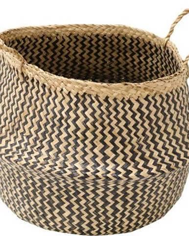 Úložný košík z mořské trávy Compactor Zic Zac, ⌀35cm