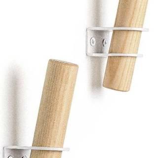 Sada 2 háčků z jasanového dřeva s bílým držákem EMKO Torch