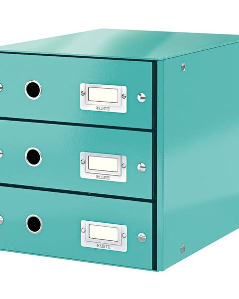 Leitz Tyrkysově modrý box se 3 zásuvkami Leitz Office, 36 x 29 x 28 cm