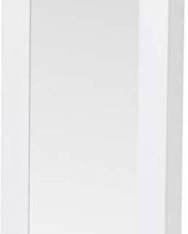 Bílá nástěnná šperkovnice na dveře se zrcadlem Chez Ro Bien