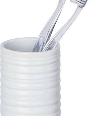 Bílý keramický kelímek na kartáčky Wenko Mila