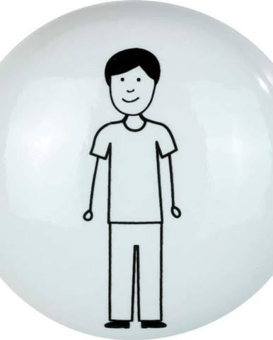 Bílý keramický nástěnný háček Wenko Arles Man