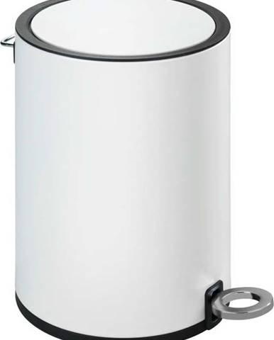 Bílý odpadkový koš Wenko Monza