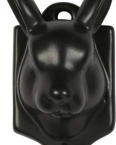 Černá porcelánová závěsná dekorace WOOOD Nona Hare