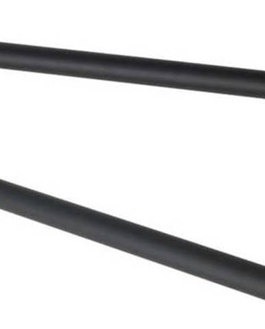 Černý nástěnný držák s 2 rameny na ručníky z nerezové oceli Wenko Bosio Rail