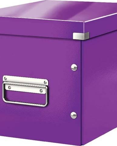 Fialová úložná krabice Leitz Office, délka 26 cm