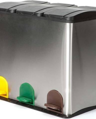 Koš na recyklovaný odpad ve stříbrné barvě Tomasucci Recycle, 60l