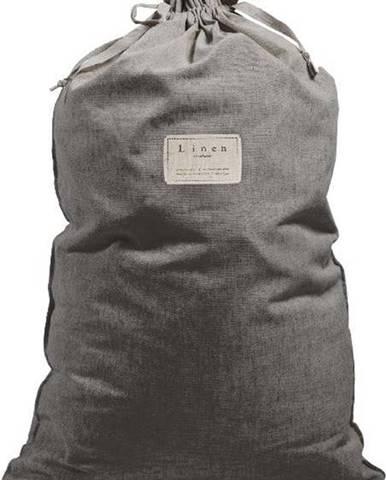 Látkový vak na prádlo s příměsí lnu Linen Couture Bag Cool Grey, výška 75 cm