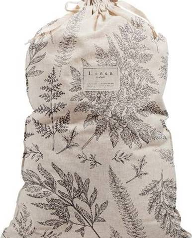 Látkový vak na prádlo s příměsí lnu Linen Couture Bag Countryside, výška 75 cm