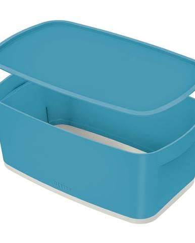 Modrý úložný box s víkem Leitz Cosy, objem 5 l