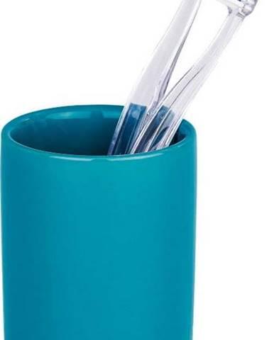 Petrolejově modrý kelímek na zubní kartáčky Wenko Polaris Petrol