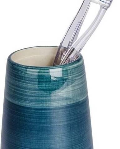Petrolejově modrý kelímek na zubní kartáčky Wenko Pottery
