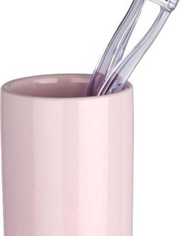 Růžový kelímek na zubní kartáčky Wenko Polaris Pink