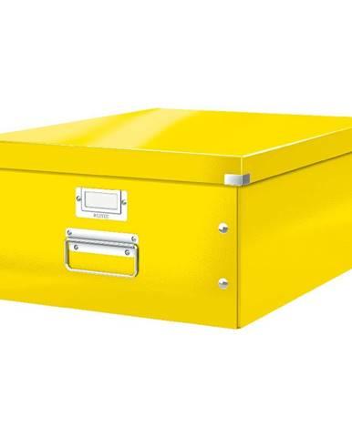 Žlutá úložná krabice Leitz Universal, délka 48 cm