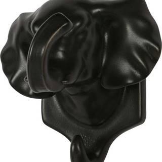Černá porcelánová závěsná dekorace WOOOD Nona Elephant