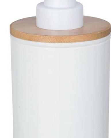 Bílý dávkovač mýdla Wenko Posa,330ml