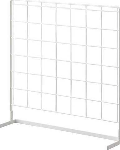 Bílý kuchyňský mřížkový panel YAMAZAKI Tower Grid, 52x52cm