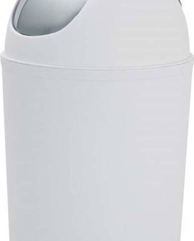Bílý odpadkový koš Wenko Verselli, výška 32 cm