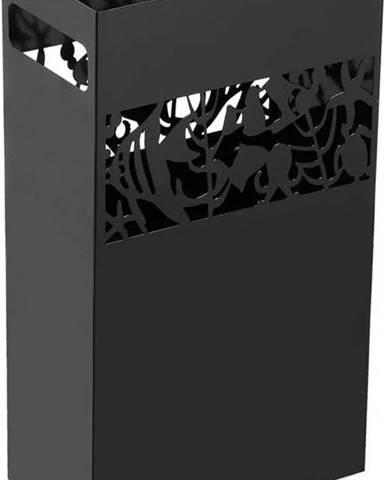 Černý kovový stojan na deštníky Versa Acuario, výška 49cm