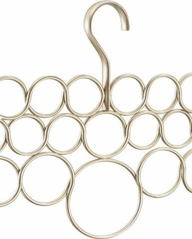 Kovový závěsný držák na ručníky, šátky a oblečení ve zlaté barvě iDesign Axis, délka29cm