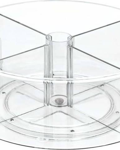 Kulatý transparentní úložný box iDesignTheHomeEdit, ⌀31cm